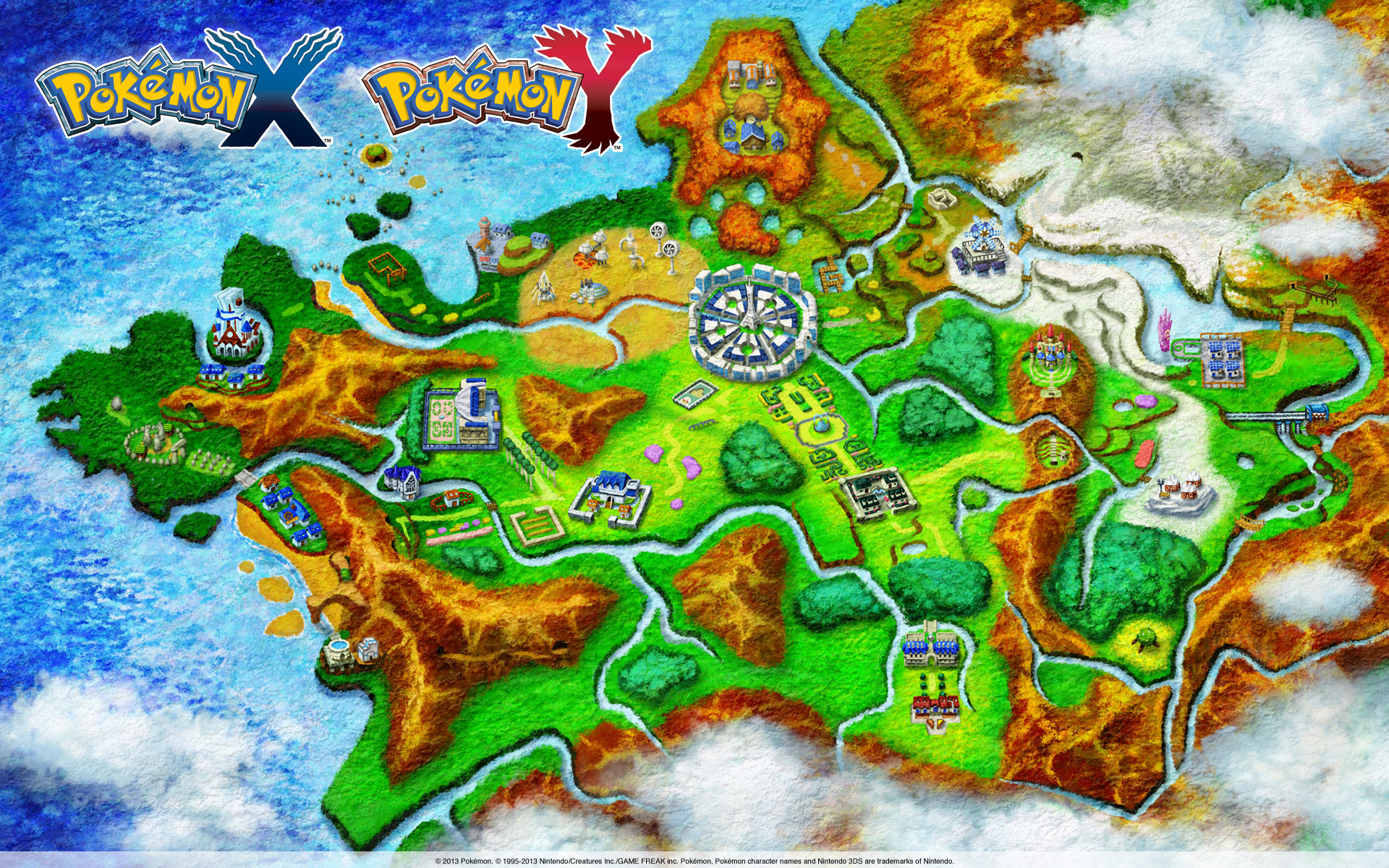 Pokemon X and Y Map