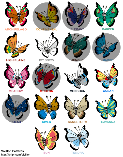Have] 12 JUNGLE vivillons with POKERUS! - 6th Generation