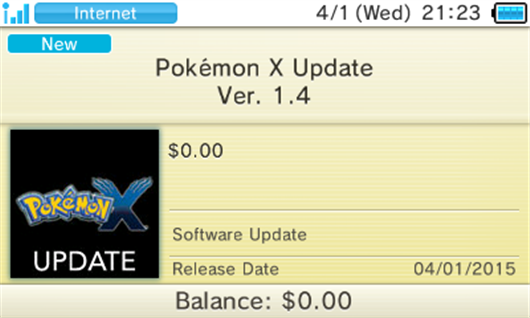 Update Patch for Pokémon X, Y, Omega Ruby & Alpha Sapphire