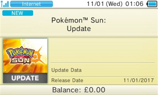 Update Patch for Pokémon Sun and Moon - News - Azurilland