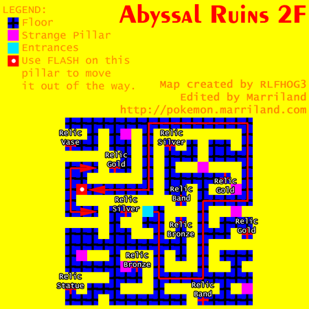 Abyssal Ruins Map 2F