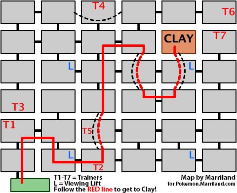 Map of Driftveil Gym